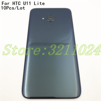 10Pcs/Lot For HTC U11 lite Back Battery Housing Cover Door Rear Panel Plate Glass Case Replacement For HTC U11 lite Back Housing