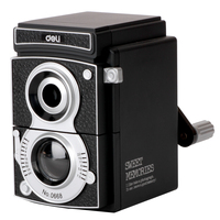 Sweet Memories Deli 0668 Vintage Camera Pencil Sharpener Hand Sharpener Gift Old Black Camera Mechanical Pencil