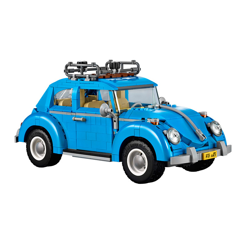 1193pcs Diy Building Blocks Series Blue Volkswagen Beetle Model Compatible With Legoingly Brick Toy For Children Brinquedos gift gonlei 10566 series volkswagen beetle model sets building kit blocks bricks toy compatible with