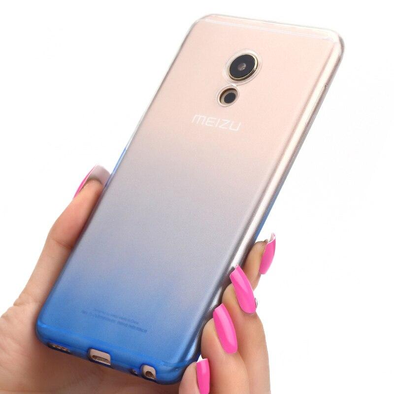 Meizu Pro 6 cas couverture pro6 Transparent mince coque en silicone 5.2 ultra mince Couleur gradient couverture arrière