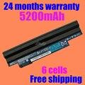 Jigu negro batería del ordenador portátil para acer aspire one 522 722 d255 d260 d270 e100 aod255 aod260 al10a31 al10b31 al10g31