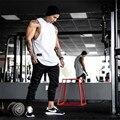 Золото бодибилдинг мужская хлопок Мышцы супермен мужской фитнес-хан развивать нравственность рукавов жилет полиамид танк