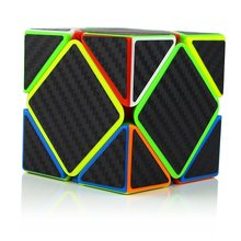 Zcube Skew Speed Magic Cube Puzzle Carbon Fiber Sticker for Kids Intelligence Development Speed Stress cube Cubing Tri-spinner(China)
