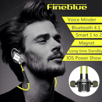Original Fineblue FA 90 Bluetooth Earphones Wireless Earphone With Report Number Magnet Collection Handsfree For IPhone