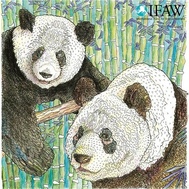 96 páginas animales en peligro libro para colorear para adultos ...