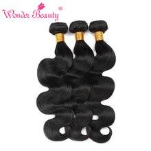 "Wonder Beauty Brazilian Body Wave Natural Black Human Hair Bundle 8""-26"" 1 Piece Hair Weft Only Free Shipping"
