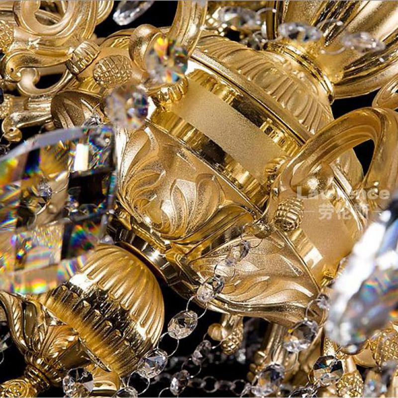projekts antīkās 29 galvas zelta led lustra kristāla droplight - Iekštelpu apgaismojums - Foto 3
