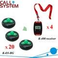 Ce passado garçom chamador sino sistema de servidor 4 pager com a corda no pescoço 20 Alarm clock frete grátis