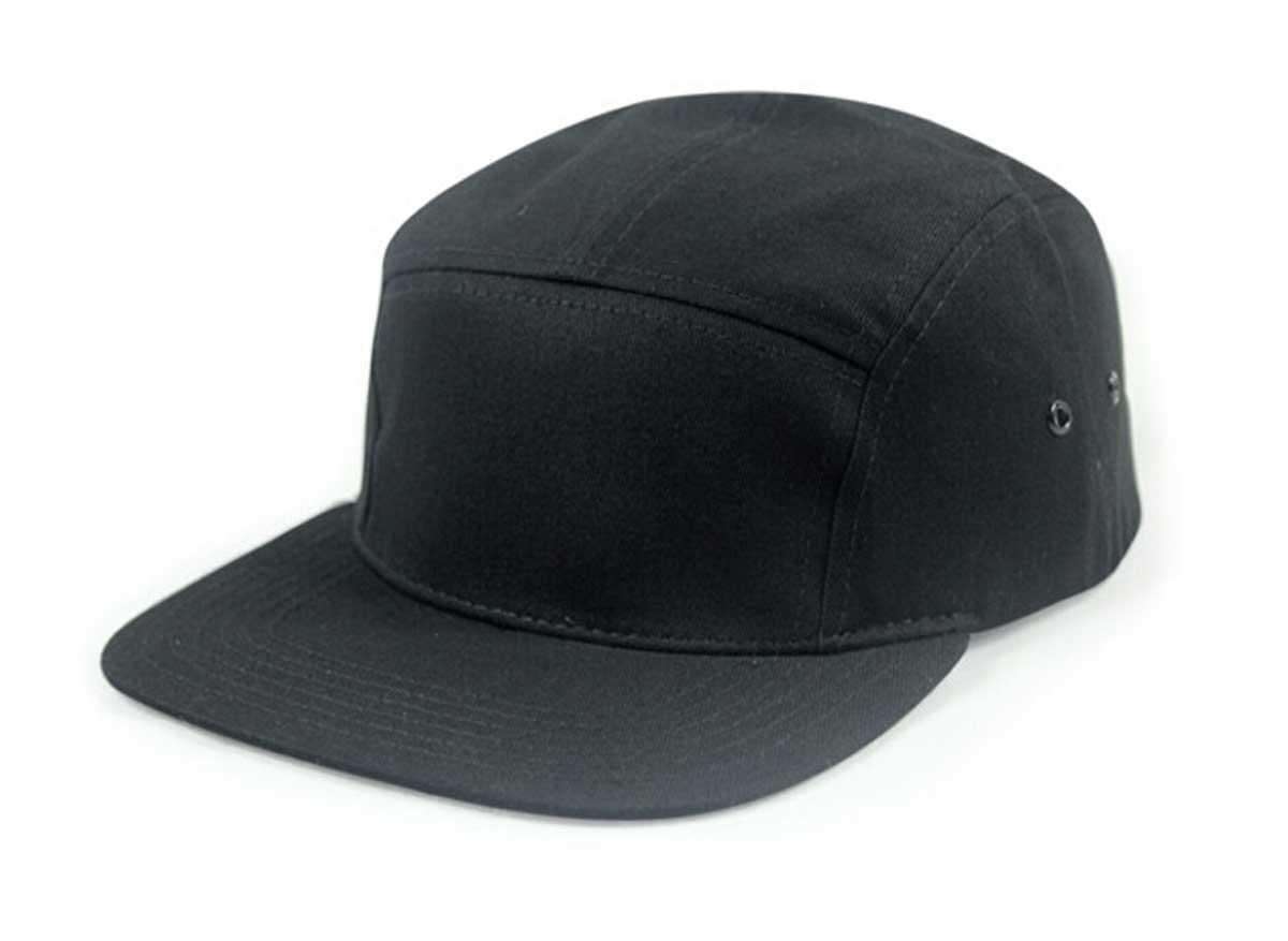 f762fe71b77 6pcs Lot Fine Plain Black 5 Panel Cotton Baseball Caps for Men and Women  Strapback Flat Bill Hats for Spring Fall Wholesale Hats-in Baseball Caps  from ...
