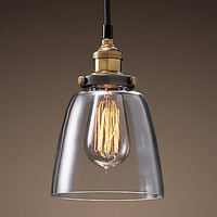 Işıklar ve Aydınlatma'ten Kolye ışıkları'de Loft Tarzı Retro Vintage Lamba Endüstriyel sarkıt aydınlatma Armatürleri Edison Kolye Işıkları Cam Abajur