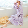 Novas Chegadas Mulheres Roupão Inverno Robe Outono Rosa Solta de Manga Longa Coral Fleece Roupões Sleepwear Senhora Spa Xale Pijama