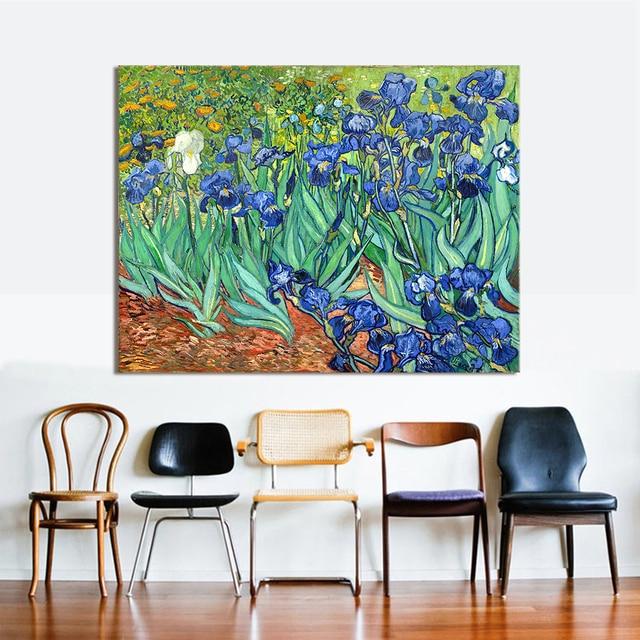 Hdartisan Impressionista Su Tela Van Gogh Iris 1889 Quadri Moderni