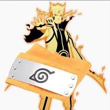 Аниме повязка Naruto косплей горячая Распродажа детские игрушки унисекс модные охранники Uzumaki Наруто оранжевая повязка на голову Мультяшные аксессуары