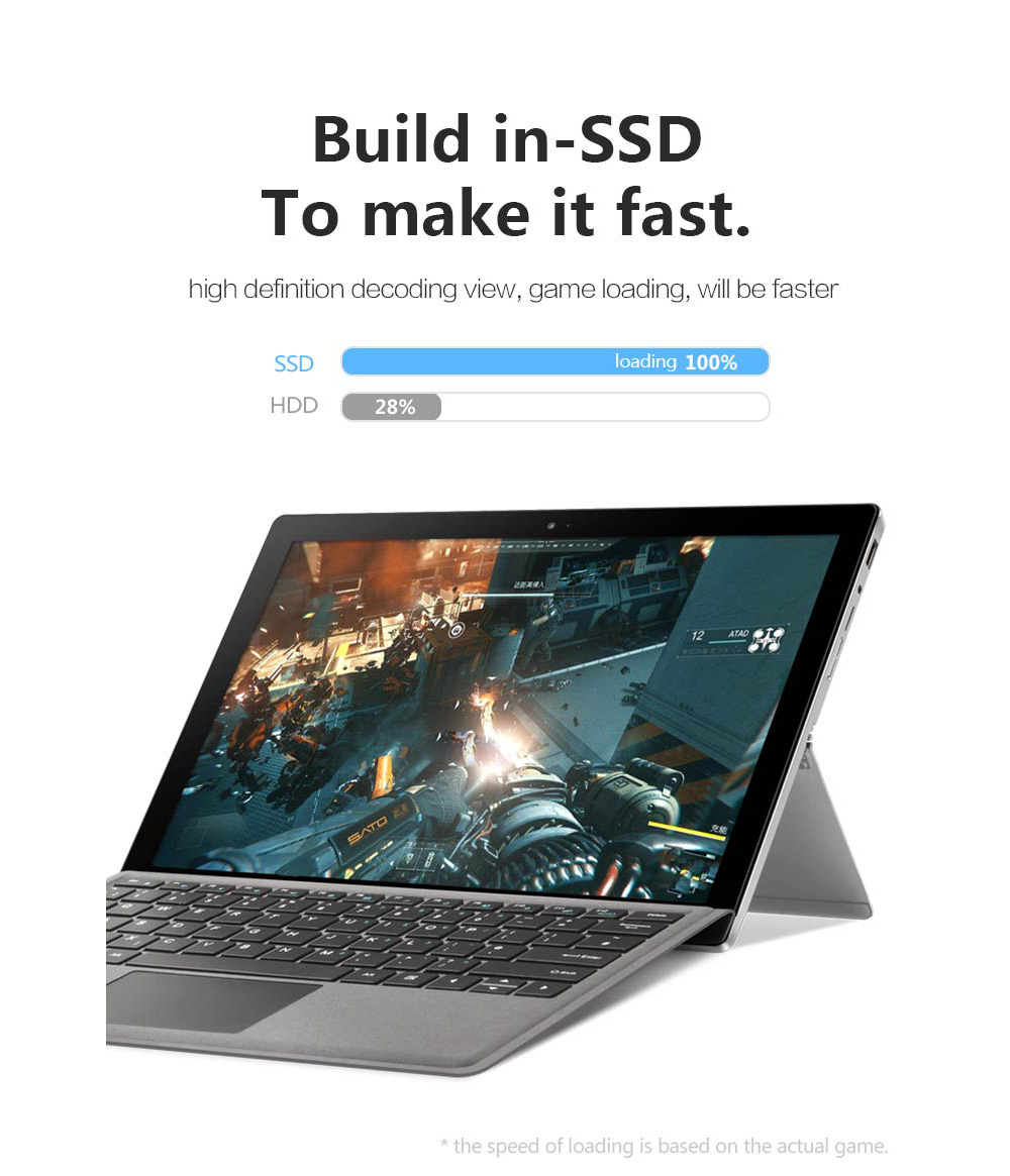VOYO VBOOK I7 Plus Windows 10 Tablet PC Laptop Intel i7 - 7500U 12 6 inch  IPS Touch Screen 8GB RAM 256GB SSD Type - C HDMI