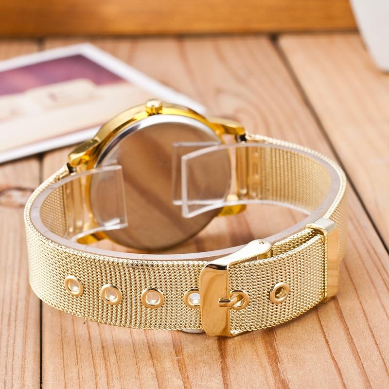 2018 High Quality Watch Women Quartz Watches Men Ladies Top Brand Luxury Stainless Steel Wrist Watch Girl Clock Relogio Feminino in Women 39 s Watches from Watches
