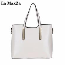 La MaxZa Brand Women Shoulder Bag Soft Leather Bags Ladies Tassel Tote High Quality Women