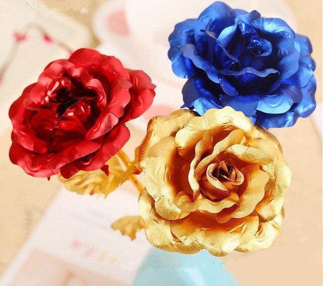 Weihnachtsgeschenk Goldene Rose Hochzeit Dekoration Goldenen Blume