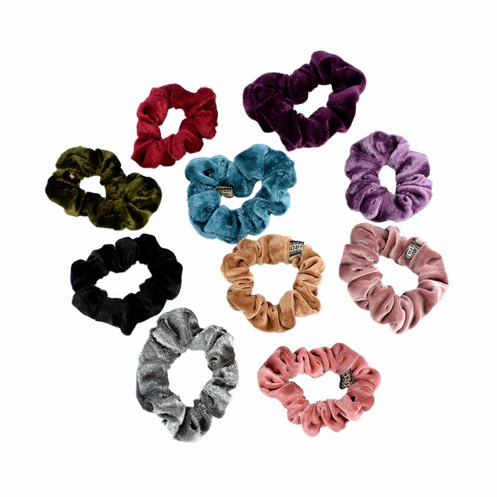 5pcs Hairband Candy Elastic Accessories Hair Scrunchie Ponytail Holder Scrunchy