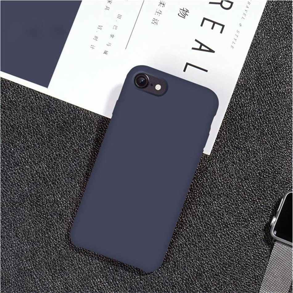 Original Silicone Case on iPhone 7 8 6 6S Plus X 5s 16