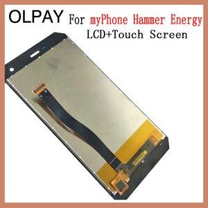 Image 3 - OLPAY pantalla LCD de 5,0 pulgadas para móvil, montaje de digitalizador con cristal de repuesto, para myPhone Hammer Energy