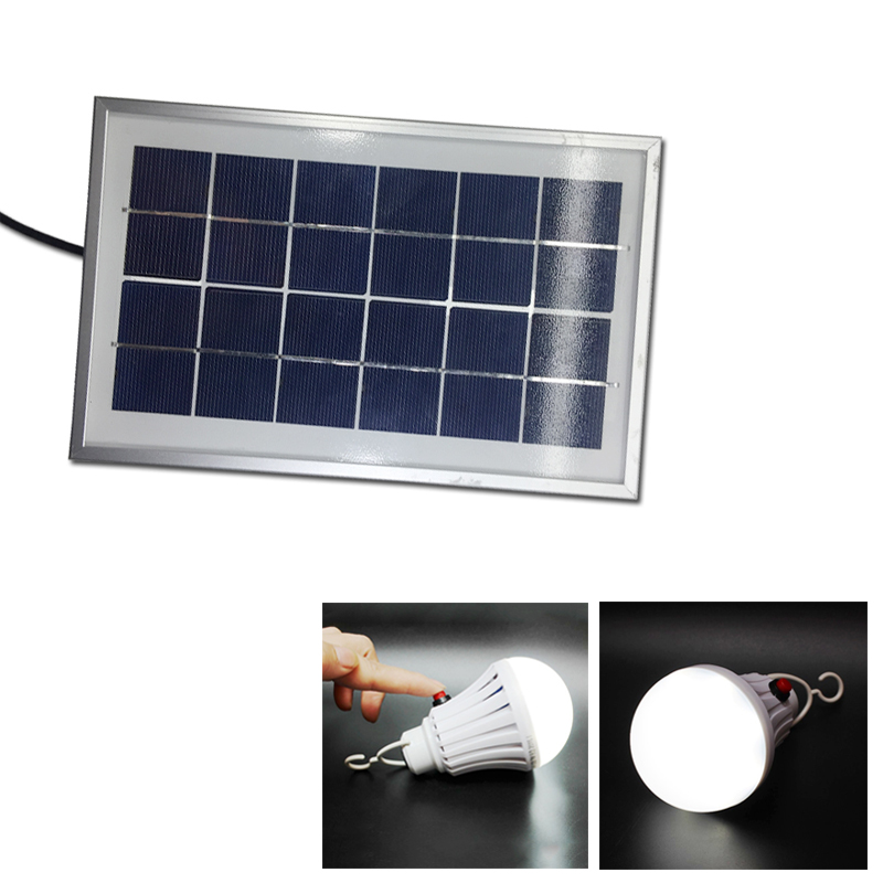 Portable Solar Lamp 12w Led Bulbs Outdoor Emergency Lighting Charge Mobile Power Charging Camping Tent Light Bulb With Switch