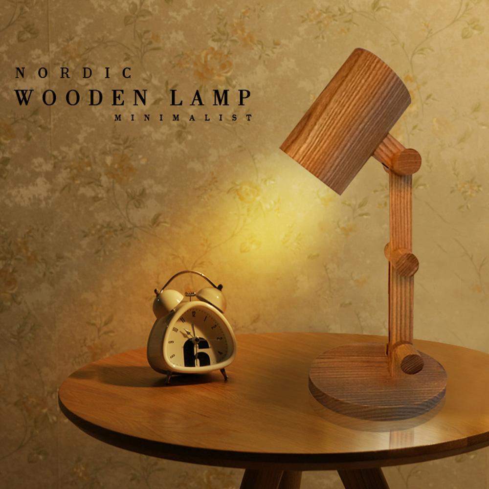 Decorative table lamp vintage Wood Plastic Rustic Style Brief Modern Lampshade Living Room Bedroom 110-220V desk light decorative table lamp vintage wood plastic rustic style brief modern lampshade living room bedroom 110 220v desk light 1936