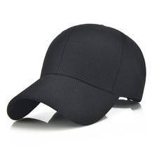 Summer Unisex Women Baseball Caps Men Cotton Breathable Mesh Baseball Cap Mens Bone Snapback Golf Hats Black Gorras Caps Outdoor
