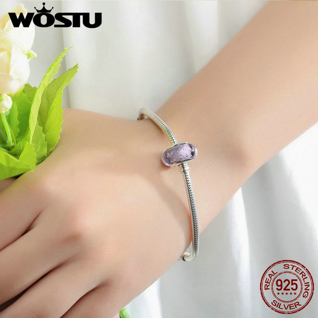 925 Sterling Silver Effervescence Murano Glass Beads