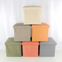 Creative Folding Stool Storage Basket Decor Linen Storage Sundries Storage Basket Finishing Box Stool Space Organizer Home Gifts