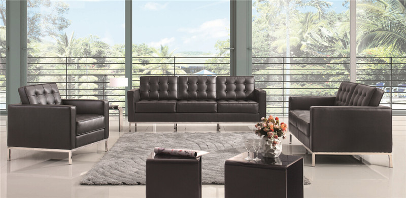U-BEST The Florence Knoll Sofa, Loveseat, and Chair, interior design section sofa set , Knoll Lounge Sofa  in real leather u best design corner sofa inspired by florence knoll left angle imitation leather or real leather modern living room sofa
