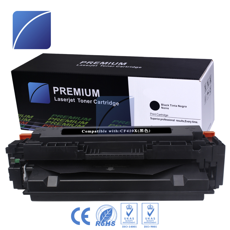 1Pack CF410X 410X cf410 cf410x Black Laser Toner Cartridges Compatible for HP Color LaserJet Pro M452dn/M477fdw/M477fnw printer