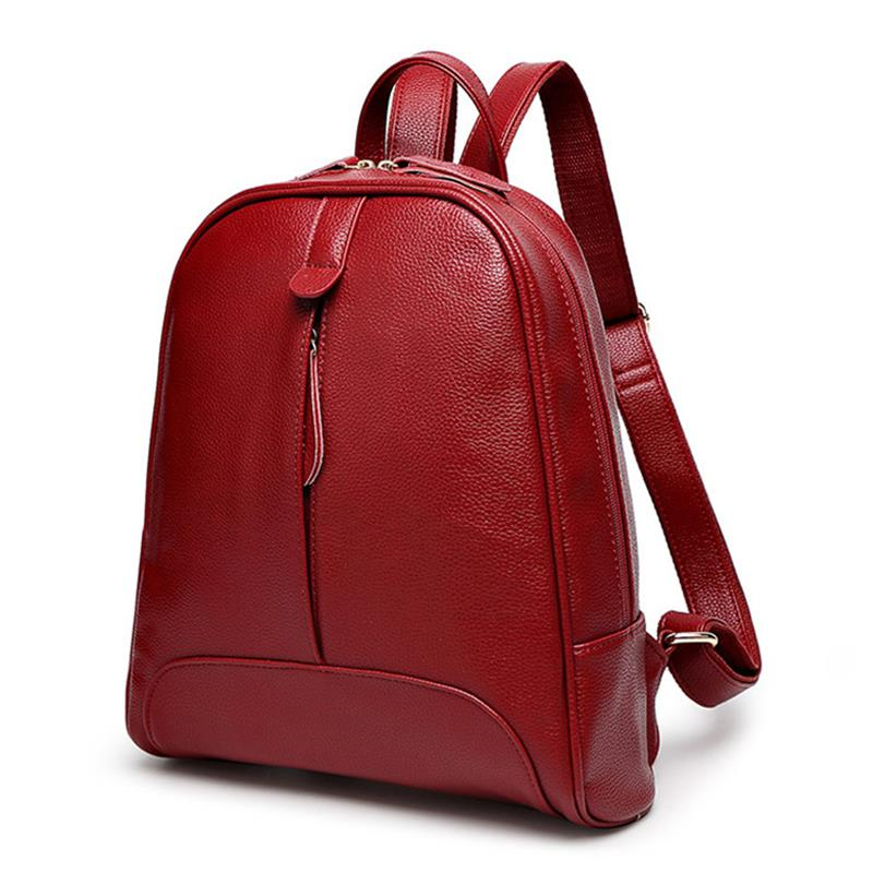 Fashion Women Backpack Zipper Bag For Girl Summer Style Female Designer Backpack(Red)Fashion Women Backpack Zipper Bag For Girl Summer Style Female Designer Backpack(Red)