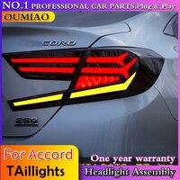 Автомобильный Стайлинг для Accord 2018 задние фонари новые Accord 10светодио дный светодиодные светодио дный задние лампы светодио дный светодиодн