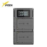 Nitecore USN3 Pro Dual Slot USB QC Charger for Sony NP F970 NP F960 FM50 FM500H F550 F570 F750 F770 Battery