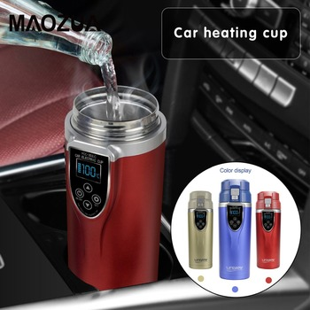 350ml Car Heating Cup 12V/24V Water Heater Kettle Coffee Tea Boiling Heated Mug Vehicle Water Heater Maker Travel kettle for Car