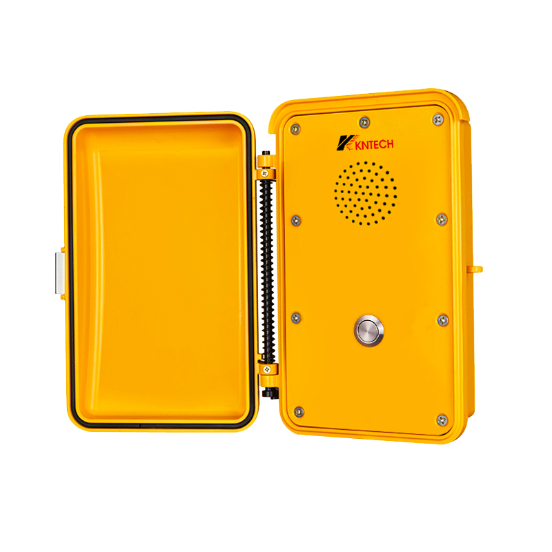 SUS304 VOIP Telephone Autodial Analogue  Rugged Waterproof Yellow  Outdoor AluminumTunnel Emergency Handfree Telephone KNSP-04