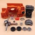 Корпус картера двигателя  корпус масляного бака  поршневой комплект цилиндра  подходит для Husqvarna 137 142 деталей бензопилы и коленчатых подшип...