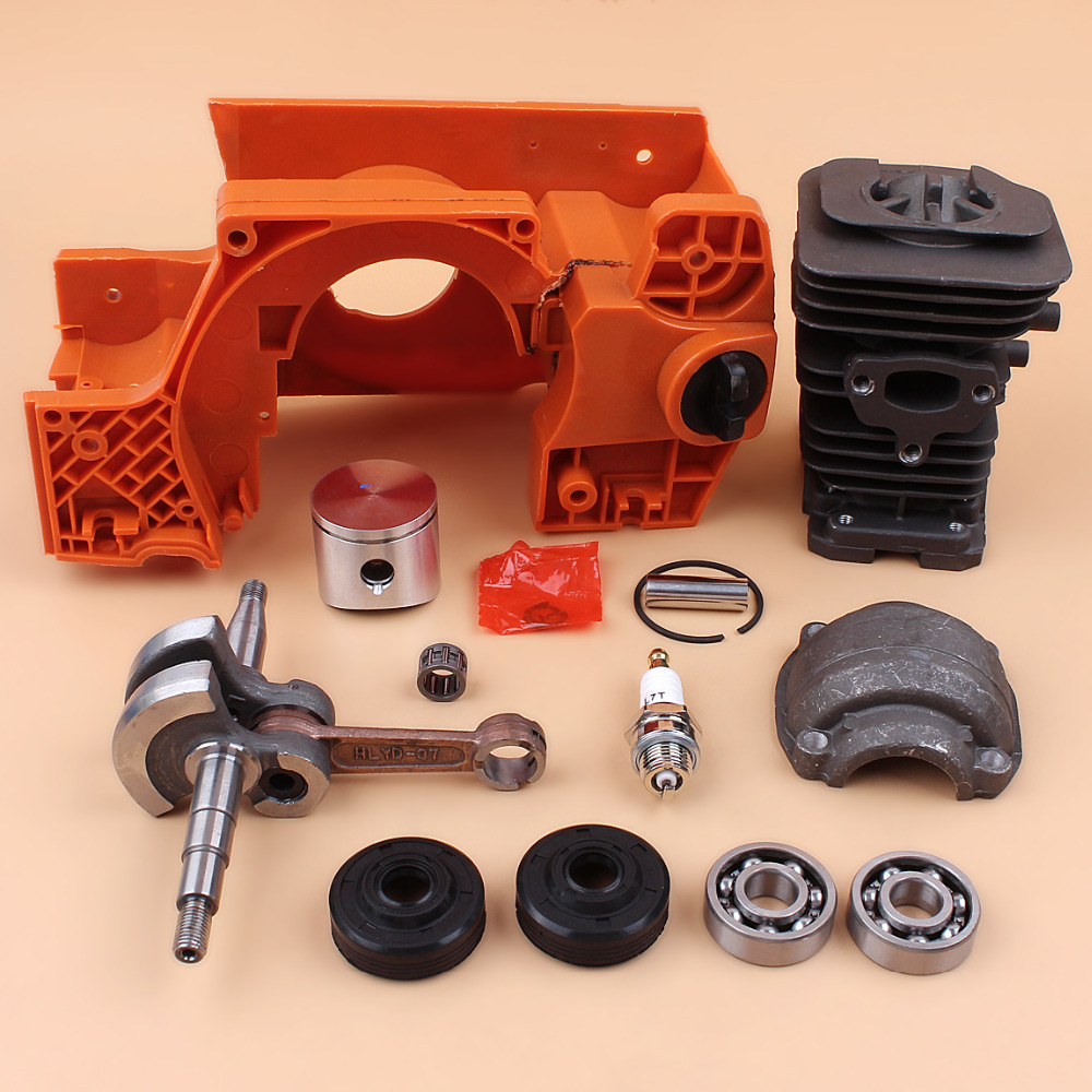 Crankcase Engine Housing Oil Tank Cylinder Piston Kit Fit Husqvarna 137 142 Chainsaw Parts and Crankshaft Bearing Oil Seals SetCrankcase Engine Housing Oil Tank Cylinder Piston Kit Fit Husqvarna 137 142 Chainsaw Parts and Crankshaft Bearing Oil Seals Set