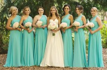 2016 Cheap One Shoulder Bridesmaid Dresses Chiffon Hot Sale Wedding Party Dresses