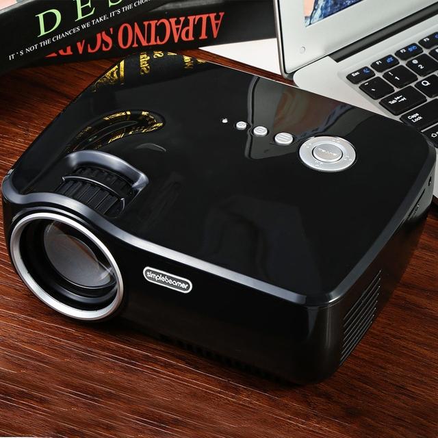 EMP-GP70 Portable Mini Proyector LED FULL HD 1080 P Proyector LCD 1200 Lúmenes 800x480 HDMI/USB/AV/SD/VGA para el cine de Cine en Casa