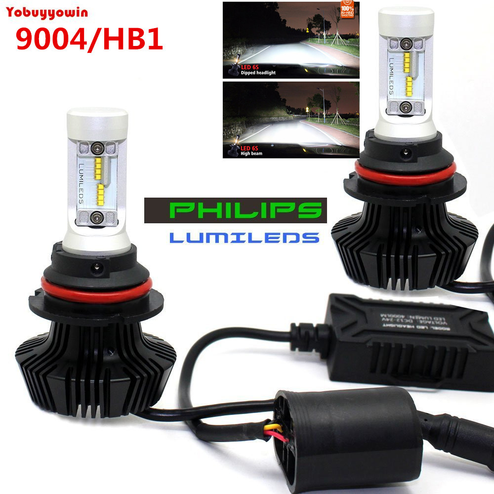 Pair G7 LED Headlight Conversion Kit 9007 8000Lm Replacement bulb HB5 Hi LO 12V For Ford Auto Front Bulbs Headlamp Car Lighting h4 car led headlight kit diamond h4 h13 9004 9007 hi lo beam headlight auto front bulbs 6000k 12v car lighting replacement bulbs