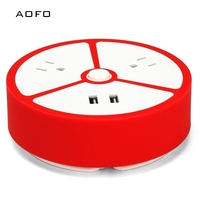 Travel Power Strip   2 Outlets 2 USB Portable Desktop Charging Station Short Extension Cord for Office/Home / Hotels/Cruise