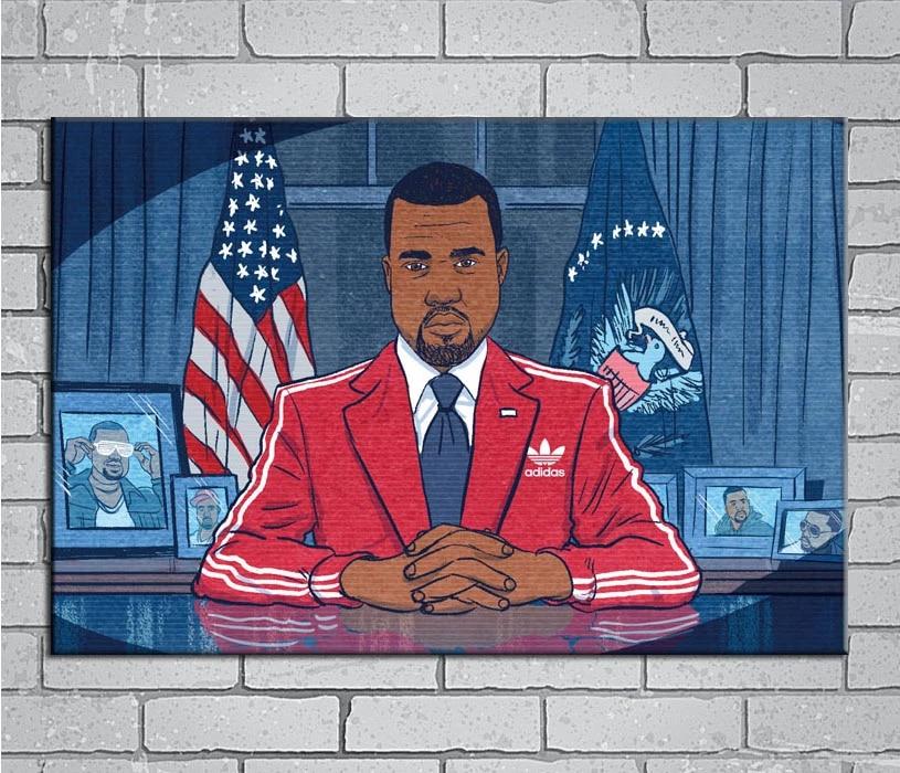 Futuristic As Seen On The Internet Custom Canvas Rapper Canvas Rolls Music Album Unframed Canvas Home Decor Hip Hop Poster Canvas