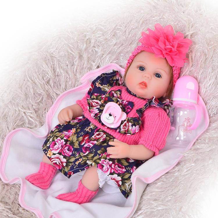 DollMai Nette Silikon Rebron Baby Puppen Neugeborenen lebendig Baby 17 zoll Realistische Prinzessin 43 cm Kinderspielkameraden Bebes Reborn bonecas