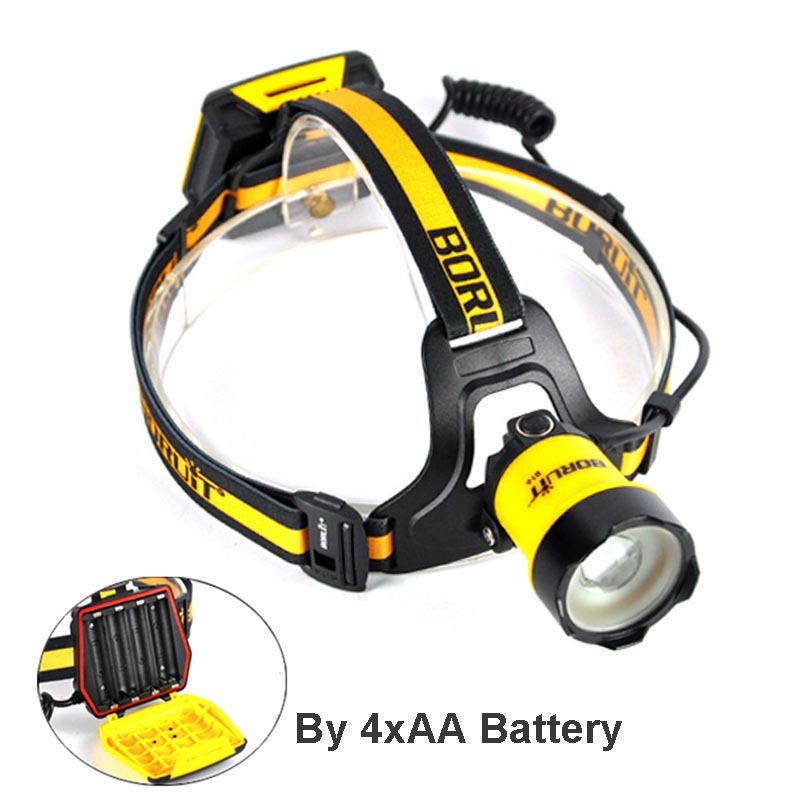 BORUiT B16 LED Headlamp Zoom Headlight XM-L2 Head Lamp 3 Mode Head Lights For Camping Fishing Cycling Flashlight Torch boruit b17 led headlamp 10000lm 3 led xm l2 rechargeable headlamp fishing 4 modes camping head lamp cycling headlight flashlight