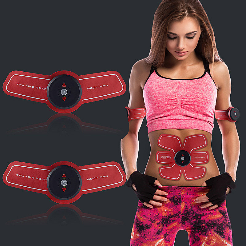 Ifory Women Smart EMS Electric Muscle Stimulator Treatment Fitness Massager Trainer Fitness Weight Loss Stickers Body Slimming abdominal muscle trainer abs electrical muscle stimulator ems fitness trainer weight loss body slimming massager with three host