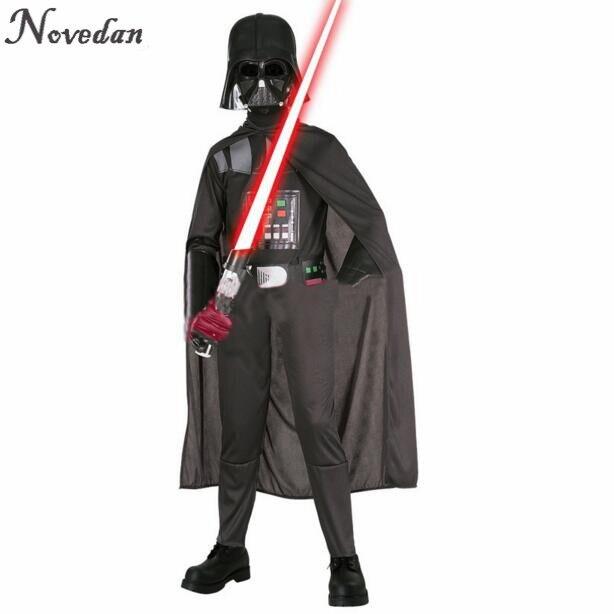 Image 2 - Halloween Costume For Kids Men Darth Vader (Anakin Skywalker) Children Cosplay Party Costume Clothing With Helmet Mask    -
