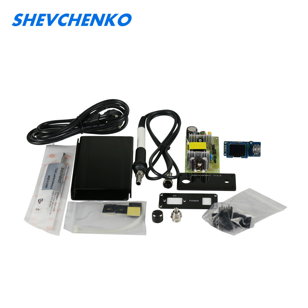 SHEVCHENKO OLED T12 Digital Soldering iron Controller DIY KITS STC 72W Electronic Soldering Stations For Hakko T12 DIY Full Set стоимость