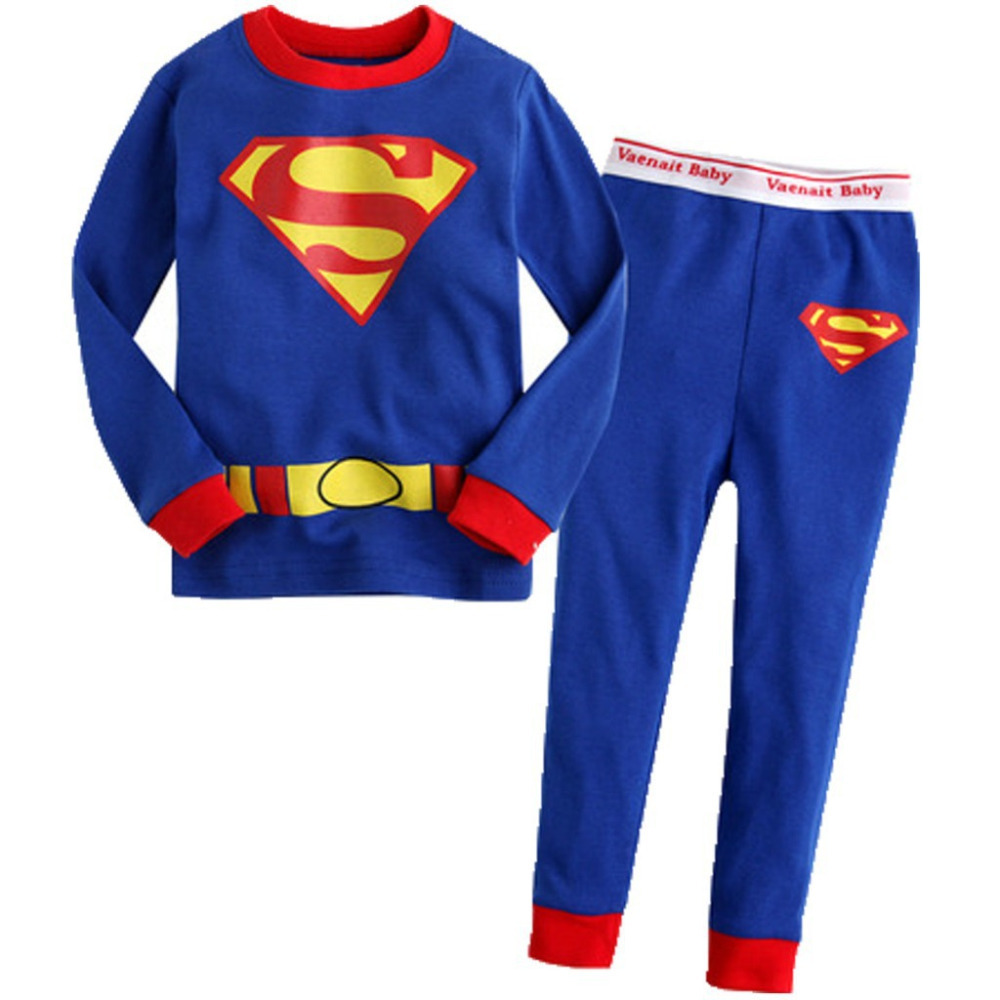 2015 new boys clothing girls sets children kids clothes suits 2 pcs sleepwear long sleeve pajamas cartoon suits 100% cotton