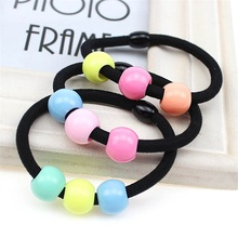 1PCS Three acrylic beads Hair Accessories For Women Headband,Elastic Bands For Hair For Girls,Hair Band Hair Ornaments For Kids
